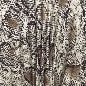 Zara Skirts - Zara Pleated Animal Printed Skirt Large